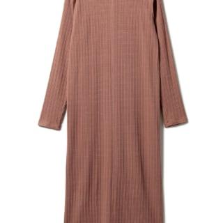 ジェラートピケのランダムリブドレス